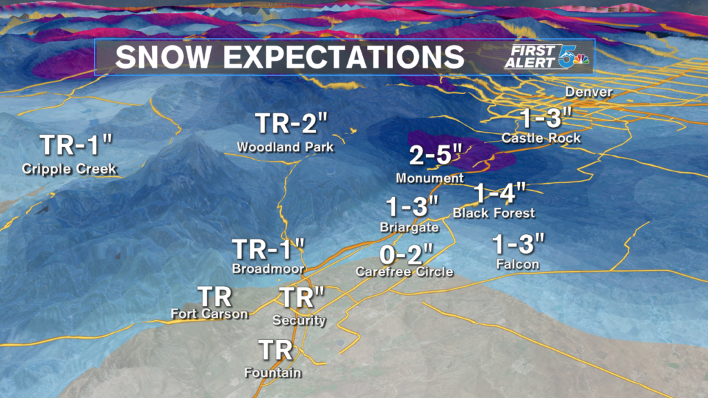Pikes Peak Region Snow Expectations