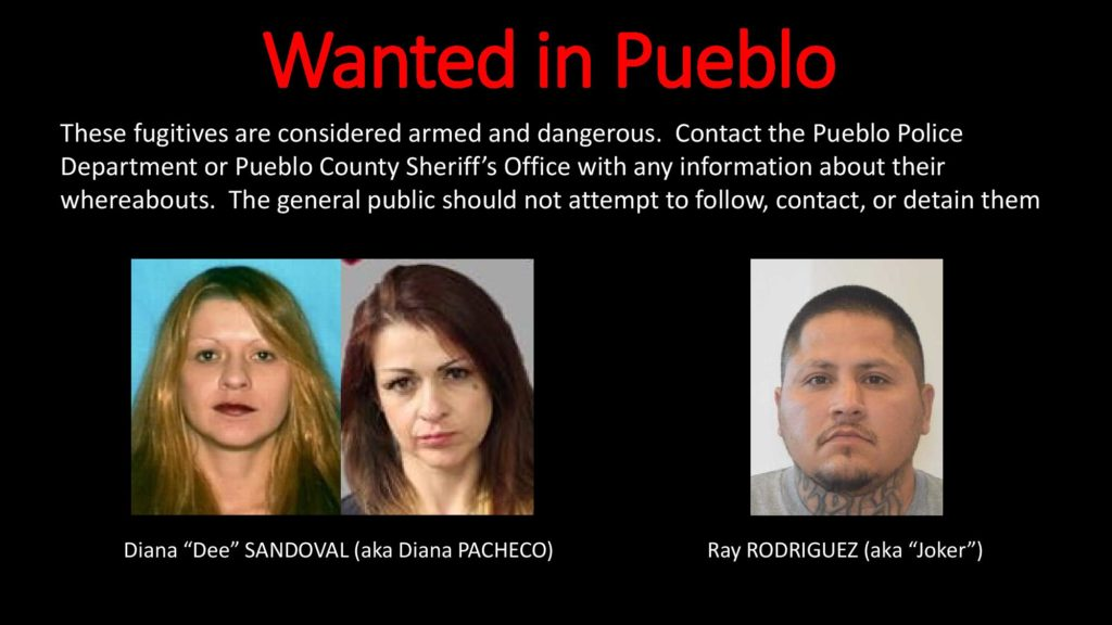 """These individuals are still wanted in Pueblo in connection to """"Operation Double Dippin'""""."""