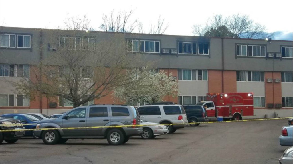 Fire and OIS at Colorado Springs-apartment
