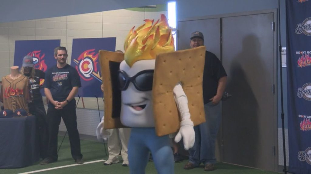 On April 27, the Rocky Mountain Vibes unveiled their new mascot Toasty.