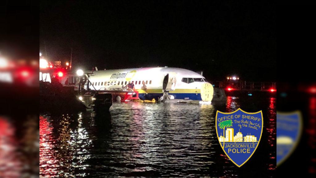 JAX Plane in Water