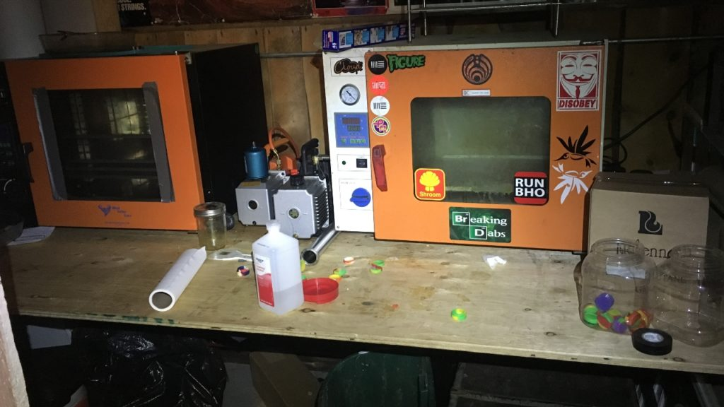 Hash oil lab bust