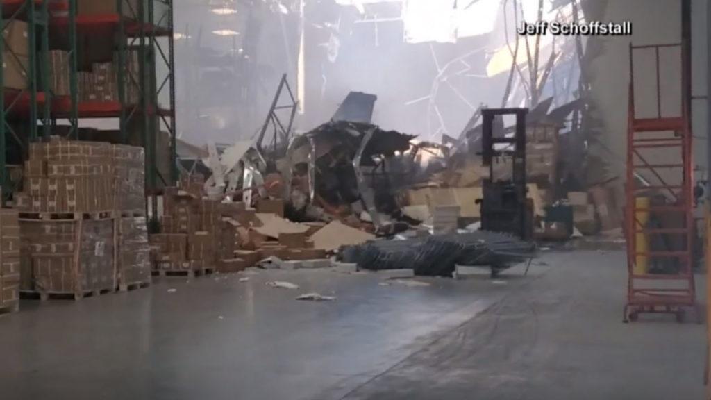 F-16-crash-inside-warehouse