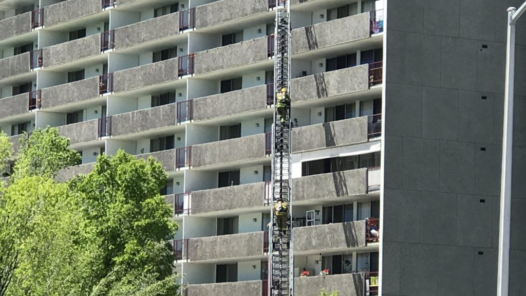 Regency Tower Apartments ladder rescue