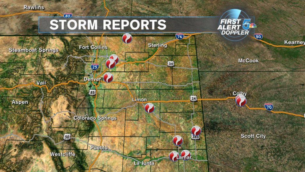 Sunday storm reports