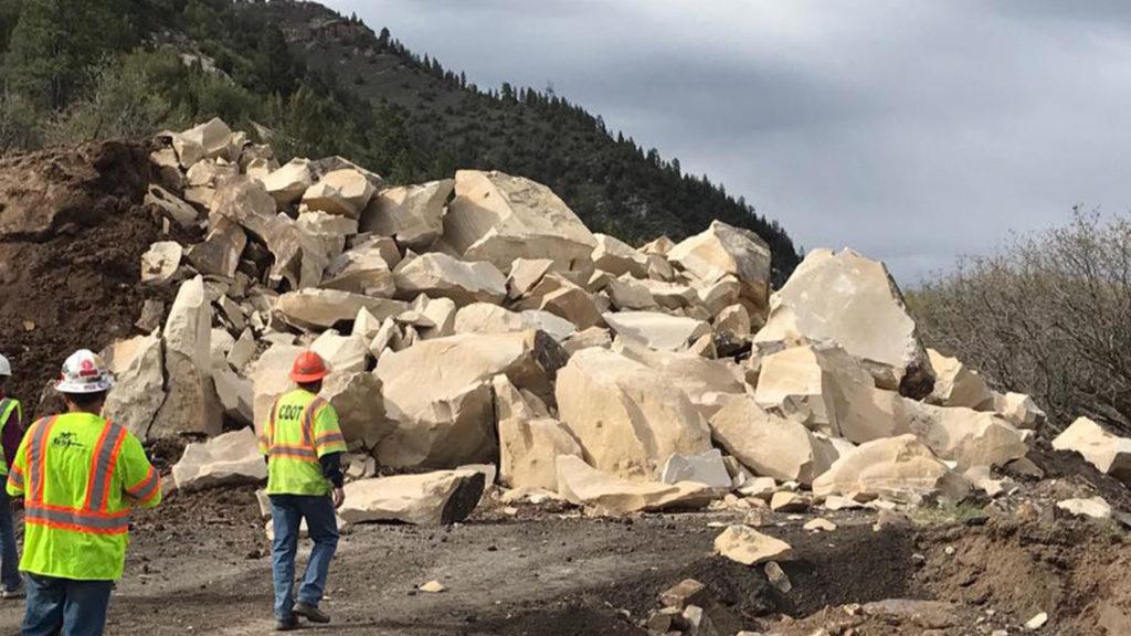 Boulder broken apart