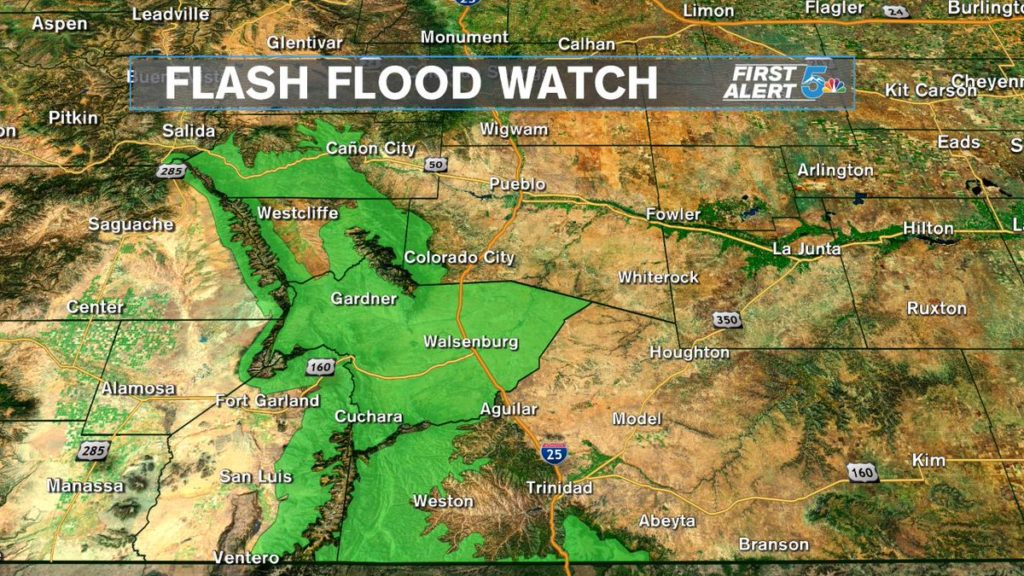 Flash flooding possible this afternoon around the Spring